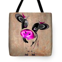 "Little Cow Tote Bag for Sale by Liane Wright (18"" x 18"")"