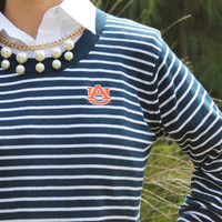 New Striped Game Day Sweater Auburn