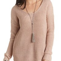 Chunky Knit Pullover Sweater by Charlotte Russe