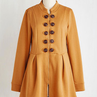 Military Long Long Sleeve Fit & Flare March to Your Own Drum Major Coat