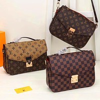 Louis Vuitton LV Fashion Leather Tote Crossbody Satchel Crossbody