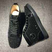 DCCK Cl Christian Louboutin Louis Spikes Style #1819 Sneakers Fashion Shoes