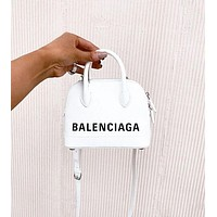 Balenciaga VILLE TOP HANDLE Mini graffiti logo calfskin bag-1