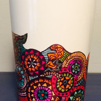 Tea/coffee mug, handmade with sharpies, waterproof