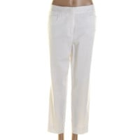 Jones New York Womens Twill Flat Front Ankle Pants