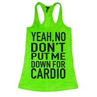 She Squats Clothing Put Me Down For Cardio Burnout Gym Tank Top