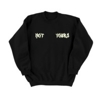 NOT YOURS Reflective Sweater