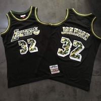 1984-85 Mitchell & Ness 32 Magic Johnson Swingman Jersey