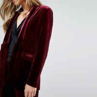 Vero Moda Tailored Velvet Blazer at asos.com