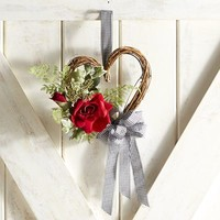 Faux Rose & Vine Mini Wreath