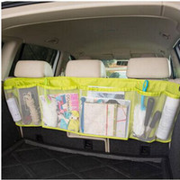 Auto Car Organizer Boot Multifunction Foldable Trash Hanging Storage Bags Organizer for Car Seat Capacity Storage Pouch P244