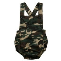 Hot camouflage  baby rompers