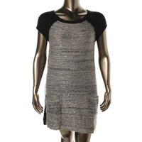 Style & Co. Womens Knit Sequined Tunic Sweater