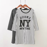 New York Print Striped T-Shirt