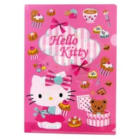 Hello Kitty Single Section File Folder - Hello Kitty and Teddy w/ Sweets
