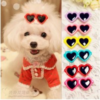 Heart Shaped Glasses Hair Clips - 2 Pcs