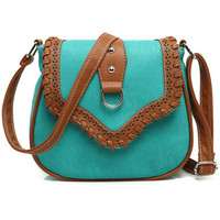 Lake Blue Vintage Cutout Bag