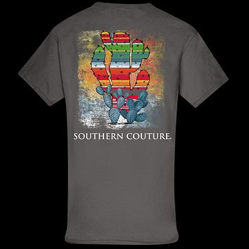 Southern Couture Classic Serape Cactus T-Shirt
