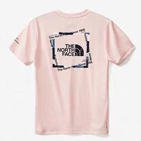 Image of The North Face 2019 new men's and women's cotton casual short-sleeved T-shirt Pink