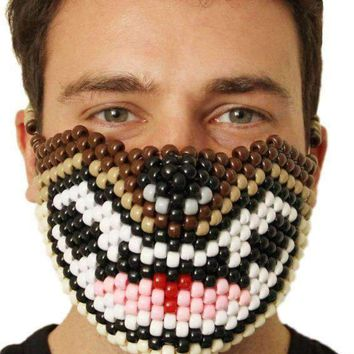 Brown Wolf Kandi Mask