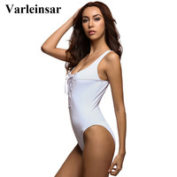 Black White red lace up body suit corset swimsuit one piece suit beach wear swimming suit for women swimwear 2017 bodysuit V195B