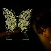 Butterfly 3D Illusion Lamp