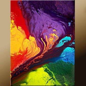 Abstract Contemporary Wall Art Print 11x14 by Destiny Womack - Beyond the Rainbow- dWo
