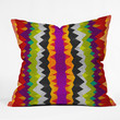 Elisabeth Fredriksson Purple Night Pattern Throw Pillow