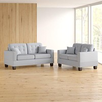 2 Piece Living Room Set - Couch and Love Seat Set