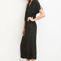 Contemporary Belted Surplice Jumpsuit | LOVE21 - 2000162438