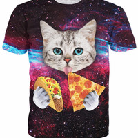 Funny Cat Shirt Pizza and Taco's