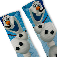 Olaf Frozen Customized Nike Elite Socks!!