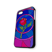 Beauty and Beast Give Rose Custom Design iPhone 5/5S Case