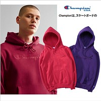 Champion Seiko embroidered hooded sports plus velvet hoodie lovers