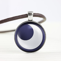 My little pony Princess Luna cutie mark MLP pendant leather necklace - ready for gifting - buy 3 get 4th one free