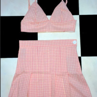 SWEET LORD O'MIGHTY! LIL GINGHAM BRALET IN PINK