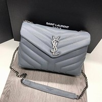 ysl women leather shoulder bags satchel tote bag handbag shopping leather tote crossbody 74