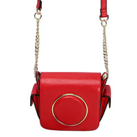 Red Mini Cross Body Camera Bag