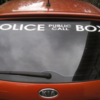 Doctor who inspired tardis decal car police public call box vinyl decal vehicle sticker 36 inches