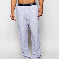 Calvin Klein Woven Stripe Loungepant In Loose Fit at asos.com