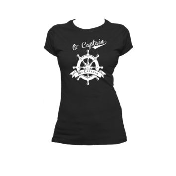 O Captain, My Captain Walt Whitman Poem Ladies or Mens T Shirt, Nerd Girl Tees