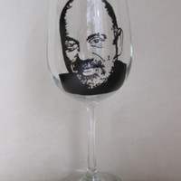 Hand Painted Wine Glass - BILLY JOEL - Singer, Song Writer, Pianist and Composer