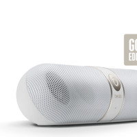 Gold Speakers   Beats Pill SE with Stereo Sound Capability
