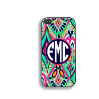 Colorful Floral Monogram Phone Case, for iPhone 5/5s, iPhone 5c, iPhone 4, iPhone 4s, Galaxy S3, S4, s5. Lilly Pulitzer Crown Jewels FCM-163