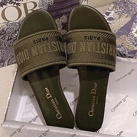 Christian Dior Classic Embroidered Letter Pattern Ladies Personalized Sandals Beach Slippers Shoes
