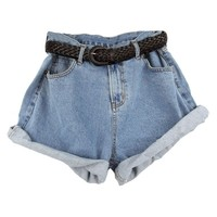 Oversized High Waisted Shorts