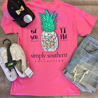 *Simply Southern Tee- Pineapple
