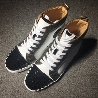 Christian Louboutin CL Man Fashion Casual Shoes Men Women Fashion Boots fashionable Casual leather Breathable Sneakers Running Shoes Sneakers