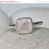 Sale Pink Topaz Ring- Pink Quartz Ring- Pink Ring- Rose Quartz Ring- Pink Stone Ring- Gemstone Ring- October Birthstone Ring- Gifts for Her