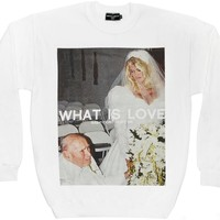 WHAT IS LOVE CREW NECK. - APPAREL